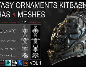 Fantasy Ornaments Alphas and Meshes volume 1 3D model