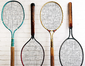 3D Dayton Metal Tennis Rackets model