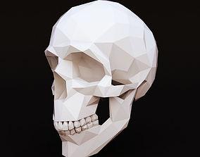 3D model Low Poly Skull Human