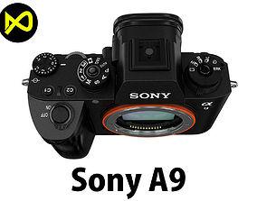 3D Sony Alpha 9 Body Only