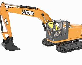 JCB js205 sc lc hydraulic excavator 3D model