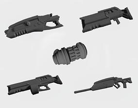 Shotguns from future 3D print model