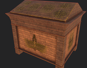 3D model game-ready Old Chest 1