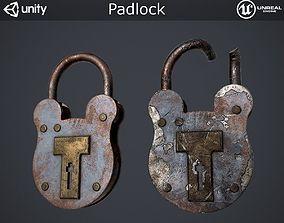 Padlock 3D model low-poly PBR