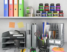 desk 3D office supplies