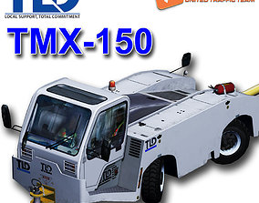 3D model animated TLD TMX-150 Push back apron tractor