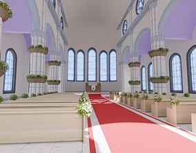 Toon Church 3D model
