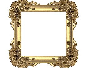 3D Carved Picture Frame gold