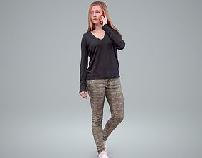 Ready-Posed 3D Casual Colorful Clothing Humans