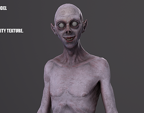 realtime Creepy male horror enemy Low-poly 3D model
