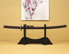 Japanese Katana - High Poly 3D