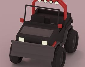 3D asset Low-Poly Car