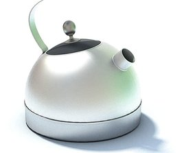 Stainless Steel Teapot 3D