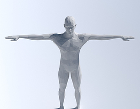 Lowpoly man - Rigged 3D model