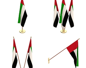 United Arab Emirates Flag Pack 3D