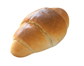 realtime Bread Low-poly 3D model