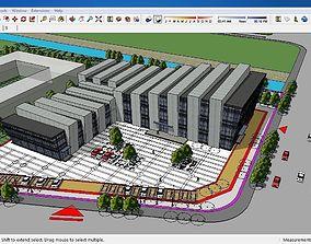 Sketchup Cultural center E3 3D model