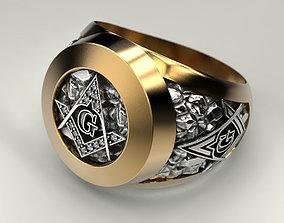 3D print model Mason Man ring 2