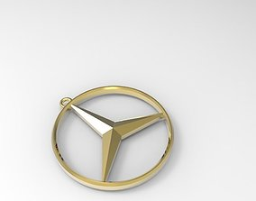 Mercedes-Benz keychain necklace 3D printable model