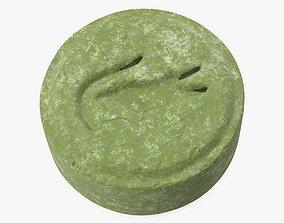 Ecstasy Tablet Crocodile 3D model