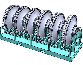 Stand Rack for wheel 785 3D model