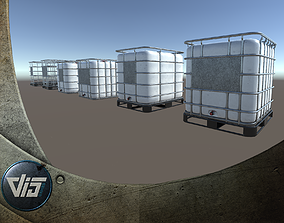 PBR IBC Containers 3D model