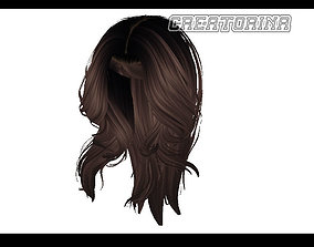 3D asset Hair Style Lowpoly Free Download