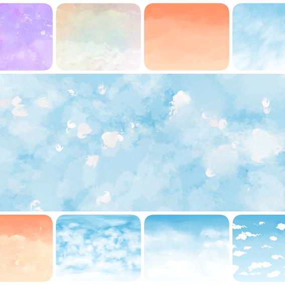 Painted Skies Bundle - 360 HDRI Panoramic Sky 3D Model Collection