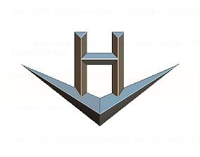 hi logo 3D print model