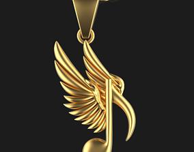 3D print model Musical Note Necklace pendant