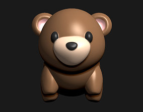 creature Teddy bear tiny figurine for 3D printing