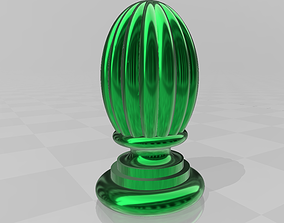 Decorative fluted finial cone casting 3D print model