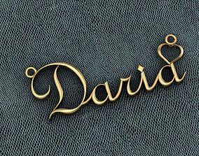 3D print model pendant with the name Daria