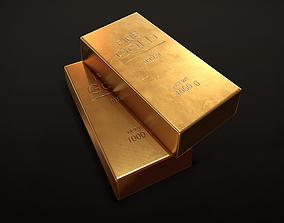 Gold Bar 3D asset