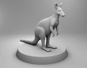 3D printable model African kangaroo