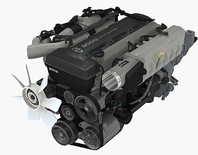 Toyota 2JZ GTE engine 3D model