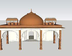 animated indian jodhpuri stone arch 3d modal