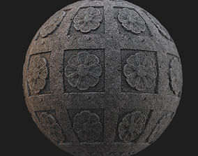 Stone material with simple medieval stone 3D