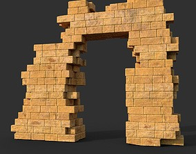Low poly Ancient Roman Ruin Construction R2 - 3D model