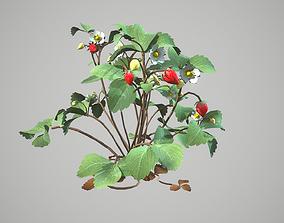 strawberries 3D model animated