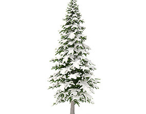 3D model Fir Tree with Snow 4point5m