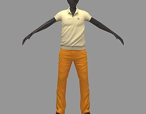 3D avatar casual set lime polo orange pants sneakers