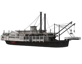 3D Paddle Steamer River Boat