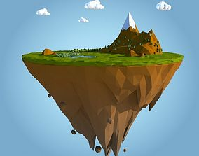 3D model low poly island