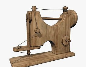 3D model Wooden Sewing Machine