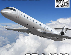 Bombardier CRJ 1000 3D model animated