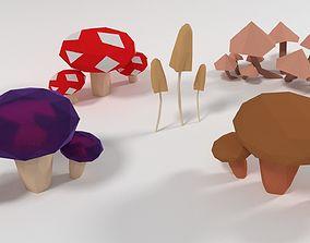 Mushroom 3D asset realtime