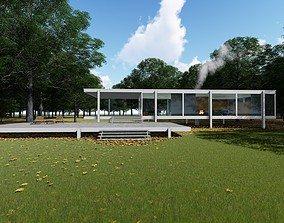 The Farnsworth House by Ludwig Mies van der Rohe 3D