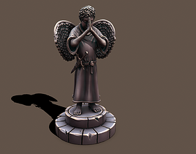 3D asset Statue holy kid
