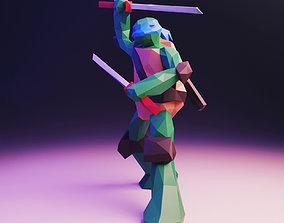 Leonardo Low Poly 3D model